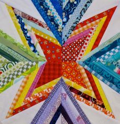 Scrap Attack paper pieced Block... CUTE BUT I HATE PAPER PIECING