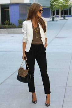 Trendy business casual work outfit for women 30 - Office Outfits Casual Work Outfits, Mode Outfits, Work Casual, Casual Chic, Fall Outfits, Fashion Outfits, Summer Outfits, Outfit Work, Chic Outfits
