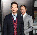 Alexander Skarsgard supports brother Bill at It premiere