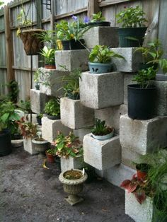 Cinder Block Planter by pocketgrow