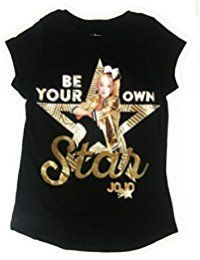 New JoJo Siwa Be Your Own Star Black and Gold Fashion T-Shirt online. Enjoy the absolute best in LSERVER girls clothing from top store. Sku nmhj33412orka42253 #bestskirtonline