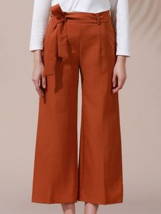 SHARE & Get it FREE | Solid Color Belted High Waist Wide Leg Pant - Dark KhakiFor Fashion Lovers only:80,000+ Items • New Arrivals Daily Join Zaful: Get YOUR $50 NOW!