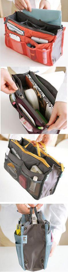 $4.99 14 Colors Large-capacity Travel Organizer Storage Bag Portable Wash Cosmetic Bag Makeup Storage Case