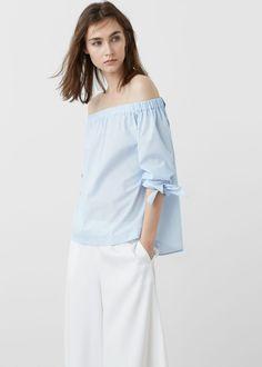Popeline blouse   MANGO