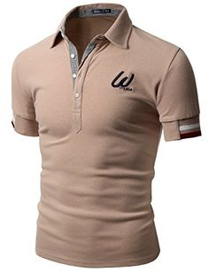Doublju Men Casual Slim Fit 100 percent Cotton Polo T-shirt INDIPINK,L Go to the website to read more description. Polo Shirt Outfits, Mens Polo T Shirts, Casual Shirts For Men, Men Casual, T Shirts For Women, Camisa Polo, Street Wear 2017, Slim Fit, Swagg