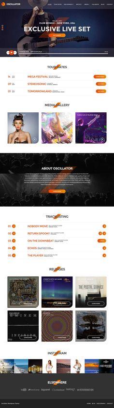 Oscillator WordPress Musician & Nightclubs Theme