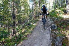 In the green room on the Colorado Trail, Salida, CO. Rider: Ben Folman. Photo: Greg Heil