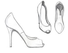 fashion design sketches shoes