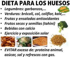 dieta para los huesos