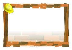Homes-themed A4 page borders (SB1695) - SparkleBox