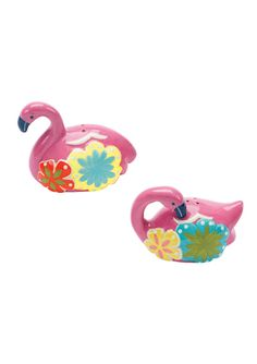 BOSTON WAREHOUSE Flamingo & Friends Salt & Pepper Shakers
