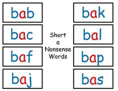 This includes three different game boards, a spinner, and nonsense word cards for all of the short vowels.