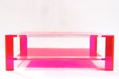 Sledge Acrylic Coffee Table in Pink