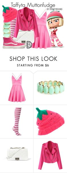 """""""Taffyta Muttonfudge"""" by leslieakay ❤ liked on Polyvore featuring AX Paris, BP., TALLY WEiJL, Steve Madden, Vans, disney, disneybound and disneycharacter"""