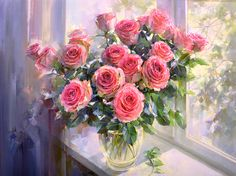 Morning with roses