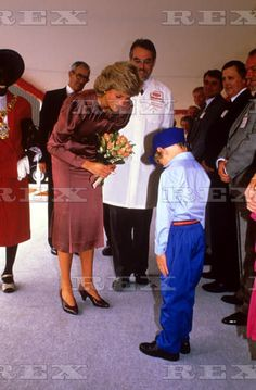 September 17 1987 Princess Diana at the Unigate Dairy, Westway, London