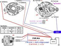 91 f350 7 3 alternator wiring diagram regulator alternator alternator wiring help rx7club com