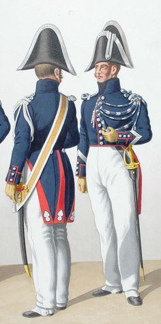 1830. Gendarmerie Royale des Départements. Gendarmes, Brigadier à Pied.