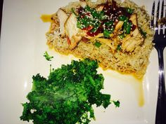 Crock pot honey sesame chicken! Super easy...Advocare approved!!! With a side of steamed broccoli.