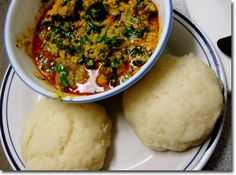 pounded yam and egusi soup #EgusiSoup, #NigerianFood, #Nigerians