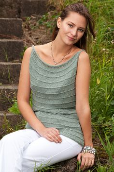 Sommertoppe - Elegant, strikket top