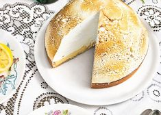 This is an absolute show stopper of a dessert. Tart Recipes, Almond Recipes, Sweets Recipes, Just Desserts, Cooking Recipes, Lemon Custard, Lemon Meringue Pie, Sweet Pie, Other Recipes
