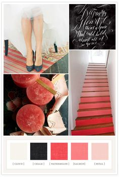 chalk, watermelon and pink colorboard