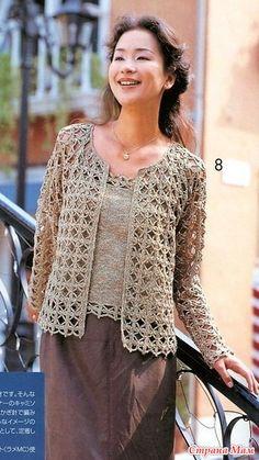 Www Eray's media content and analytics Crochet Bolero Pattern, Vest Pattern, Crochet Jacket, Crochet Blouse, Knitted Poncho, Crochet T Shirts, Crochet Clothes, Pull Crochet, Crochet Top