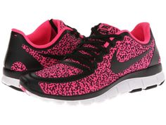 NEW-WOMENS-NIKE-FREE-5-0-V4-BLACK-HYPER-PINK-SHOES-ALL-SIZES