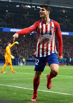 News Photo : Alvaro Morata of Atletico de Madrid celebrates. Football Love, Football Is Life, Football Photos, Football Players, Alvaro Morata, At Madrid, Cristiano Ronaldo Lionel Messi, Soccer Kits, Mars