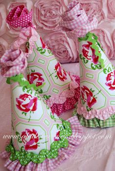 A Little Loveliness: Fabric Party Hat Tutorial Amazing party hats by Melissa Lester