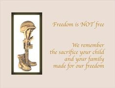 Sept. 28, 2014: Gold Star Mother's Day, special recognition to those mothers who lost sons/daughters protecting our freedoms