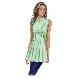 B5890, Misses' /Misses' Petite Top and Tunic