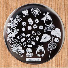 # 22635 JPY ¥238 1枚 可愛いきのこ&花ネイルアートスタンピングテンプレートイメージプレート【正規品】hehe-065 - harunouta.com