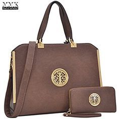 MMK collection Women Fashion Matching Satchel handbags with wallet(6900)~Designer Hobo Purse ~Multi Pocket ~ Beautiful Designer tote Handbag Set (MA-09-6900W-COFFEE): Handbags: Amazon.com