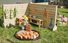 Schematic play part 3 - Positioning and Connection Outdoor Learning, Outdoor Play, Outdoor Decor, Diy Projects For Kids, Diy For Kids, Cheap Furniture Stores, Small World Play, Outdoor Classroom, Sandbox