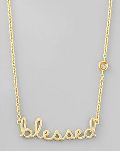 Blessed Pendant Bezel Diamond Necklace by SHY by Sydney Evan at Neiman Marcus.