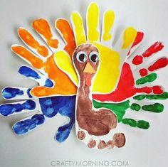 Turkey hand and footprint craft