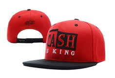 Rocksmith Cash Is King Snapback Hat Red , sales promotion  5.6 - www.hats-malls.com