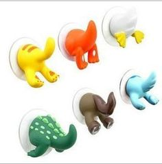 Online Cheap Pvc Hook Cute Animal Tail Hook,Funny Animal Towel Holder Kitchen Wall Hanger By Home1688 | Dhgate.Com