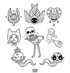 tattoos design your own free Kritzelei Tattoo, Glyph Tattoo, Doodle Tattoo, Dark Tattoo, Flash Art Tattoos, Tattoo Sketches, Tattoo Drawings, Tattoo Filler, Surreal Tattoo
