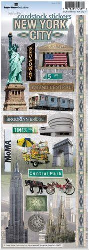 Paper House Productions - New York City Collection - Cardstock Stickers - New York City 2 Digital Scrapbook Paper, Scrapbook Stickers, Scrapbook Cards, Planner Stickers, New York Scrapbooking, New York Papers, New York City Vacation, Vacation Scrapbook