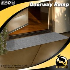 A recycled polymer Doorway Ramp from Discount Ramps makes it easy for people who use wheelchairs, power chairs or walkers to negotiate any threshold. These wheelchair ramps come in several colors to accent any decor.