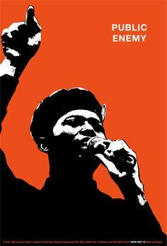 Hip hop poster 111. Public Enemy