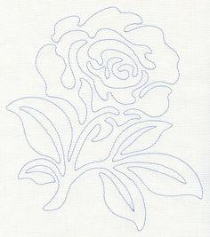 Rose Quilting Motif (Single Run)