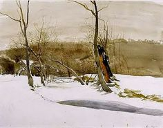 Andrew Wyeth, I just love this landscape, a great American Artists, the few pieces I have collected here are justa  sample of his genius..