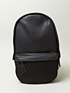 Haerfest Men's Cowhide And Canvas Capsule Backpack