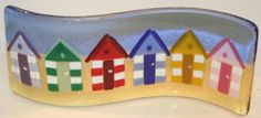 A Row of Beach Huts - Small Double Curve (C26) by Nicky Exell