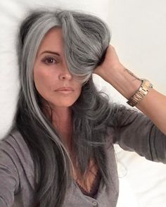 can't wait til my hair gets fully gray and long again!! this is stunning