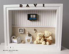 Quadro Porta de Maternidade Exclusivo - Atelier Manu Oliveira Saiba mais: http://ateliermanuoliveira.wordpress.com/2014/10/09/amor-de-bebe-um-quarto-de-menino-bem-moderno/